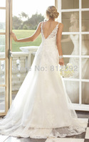 Free Shipping Elegant White/Ivory Sweetheart Dolce Satin Lace A-Line Wedding Dress/Bridal Gown Custom Size Wholesale/Retail