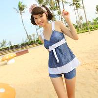 Spa the wind denim split swimwear haixiang 13022