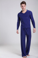 FREE SHIPING Men smooth casual pajamas, men's home service package A SET/M/L/XL