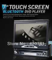 EMS/DHL free shipping 7 inch touch screen 1 DIN GPS/TV DVD PLAYER with touch screen