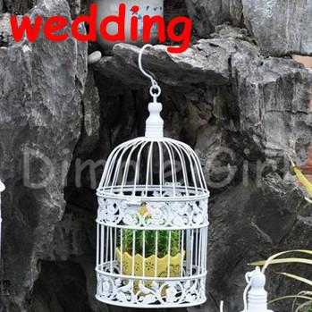 Новый маленький старинный клетка игрушка украшения белый металл дом железа декоративные птичьи клетки для свадеб подарок фотографии реквизит декор