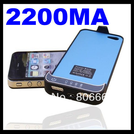 New Portable Ultra thin 2200mAh external battery power bank for iPhone 5 5g battery case with retail box(China (Mainland))