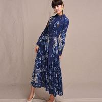 [LYNETTE'S CHINOISERIE - BE.DIFF] Original spring linen slim belt   Women Plus Size Dress Sz XS S M L XL XXL XXXL