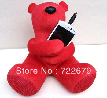Card Speaker (1pcs/lot ) Cute Cartoon Hippo Plush Toy Speaker FM Radio for MP3 MP4 Mobile Phone& PC &Laptop & U Disk & SD Card