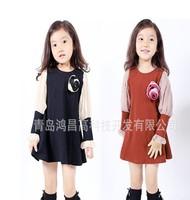free shipping  2013 new best quality fashion Children's dress chiffon girl's dress children's garments