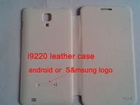 i9220 leather case and screen protector star n9000 / n9770 i9220 (black and white)
