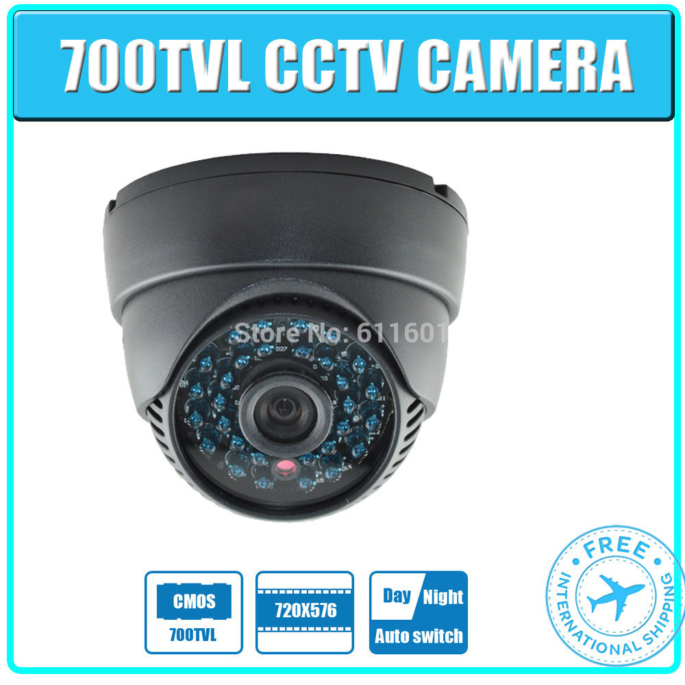 New arrival promotion 700tvl CMOS 24leds blue leds indoor CCTV dome Camera Security camera. free shipping!(China (Mainland))
