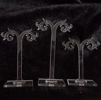 Acrylic earrings rack set acrylic piece set black-and-white 2 0.02