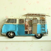 Canducum hot-selling vintage photo frame photo frame blue volkswagen bus home