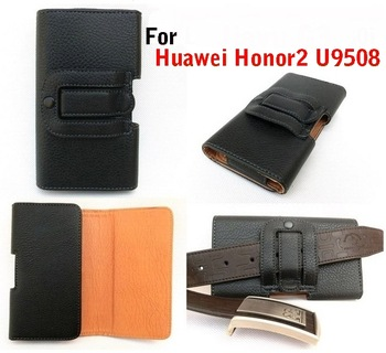 Honor2 Leather Pouch Holster Belt Clip Case For Huawei U8950D U9508 T8950D G600 Housing Belt Bag