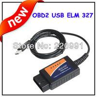 Auto diagnostic tools ELM 327 Interface OBD2 OBD scanner USB car diagnostic scan tool ELM327