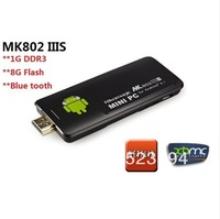 Rikomagic MK802 IIIS Mk802iiis 8GB Bluetooth Android TV Box 4.1Dual core Mini PC Stick Mobile Control RK3066 1.6GHz 1GB RAM