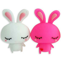 Original authentic free shipping creative cute obediently rabbit USB flash drive 2GB/4GB/8GB/16GB/32GB/64GB/128GB