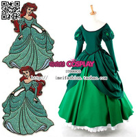 New Arrival Any Size Avaliable Custom Made The Mermaid Princess Ariel Green Dress Cosplay Costume