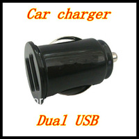 Dual USB Port 2.1A Car Charger for iPhone/ ipod / ipad ,20pcs/lot