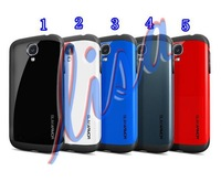 2013 Newest SGP SPIGEN SGP Slim Armor Color case for Galaxy S4 i9500 Note 100pcs case +100pcs screen protective film #1