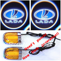 Sixth Generation 5W Car Led Door Light for LADA    Led Car Decoration Ghost Shadow Light lamp Welcoming lignt Free Shipping