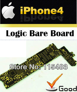 1pcs Motherboard 16G + 4pcs home button + 2pcs back panel  Repair cell phone Custom parts supplier   for iphone 4 one order