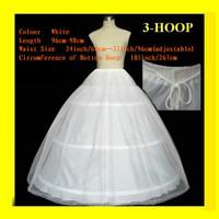 white 2 layers 3 Hoop A Line Ball gown wedding bridal petticoat crinoline