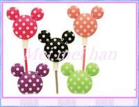 Amazing price!10pcs 3.5mm Newly cute Cartoon Mickey Earphone Headphone in-ear earphone 9 Colors  For  Free Shipping