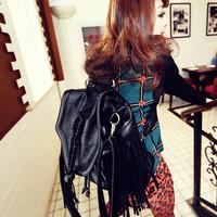Duomaomao 2013 tassel skull bag messenger bag backpack bag handbag multi-purpose women's m03-025  High Quality Bag