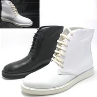 [(My God)] 2014 autumn new fashion male high-top shoes fashion men ruslana korshunova white trend genuine leather men's boots