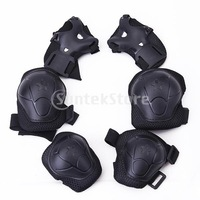 Free Shipping Children Cycling Roller Skating Knee Elbow Wrist Protective Pads - Black