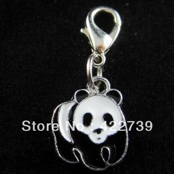 Free shipping 20pcs Panda Pet ID Tag DIY Hang Charms Pendant Zinc Alloy 100% Brand New pet products- dog tag-dog
