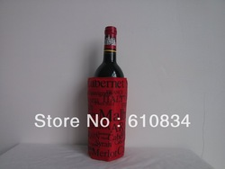 FAST SELLING! Delicate PVC/Nylon Ice bottle cooler keep wine,beer cool,fresh and milk warm 10pcs/lot(China (Mainland))