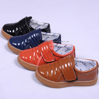 Spring child male girls children shoes japanned leather shiny small leather velcro casual single shoes fashion