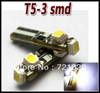 free shipping T5 74 3-3528SMD DASHBOARD LED CAR Auto Signal LIGHT WHITE 50pcs/lot  led lamp lights