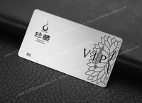 Personalized quality lotus wire drawing stainless steel vip metal card
