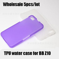 Wholesale 10pcs/lot Top quality TPU soft case for blackberry Z10 protective water case for BB Z10 cell phone case FREE SHIPPING