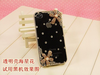 Hot selling novelty products flower 3d bling cell phone case for apple iphone 4 4s 4g accessories,cell phone cover skin