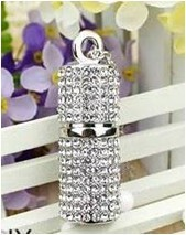 jewelry crystals pendant usb flash drive, promotion(China (Mainland))