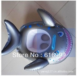free shipping hotsell 2013 New children&#39;s inflatable shark shark swimming race children swimming laps inflatable products(China (Mainland))