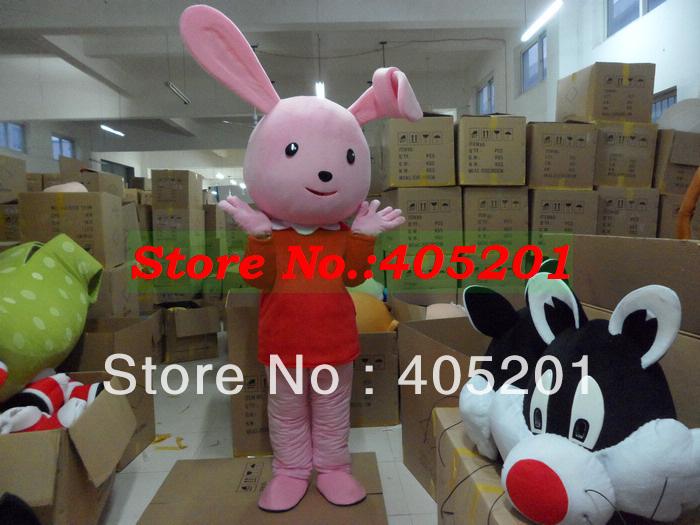 Character rabbit costumes cartoon bunny walking actor click to see
