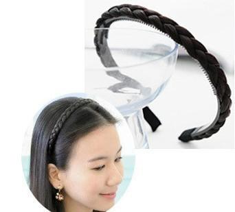 South Korean import purchasing jewelry Kim Tae Hee with lovely hemp flowers braided wigs hoop!#1353