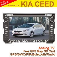 "KIA CEED Car DVD GPS , 8"" In Dash Car DVD Player for KIA CEED 2006-2012 with GPS Navigator Radio RDS Bluetooth USB SD iPod"