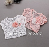 Free shipping 5pcs/lot new summer kid's lace coat ,girl flower capelet ,children lace Shawl GC-007