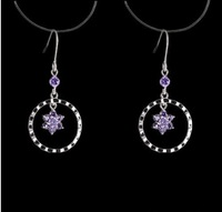 korean  earrings 18K white Gold plated  Drop Earrings 1pair  Freeshipping