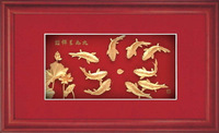 Stereo gold foil painting brief decorative painting modern home accessories paintings mural