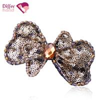 New arrival multicolour paillette bow hair accessory rhinestone hairpin clip spring clip hair accessory