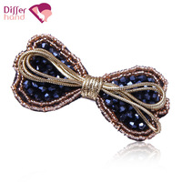 Bow hairpin rhinestone bangs clip small side-knotted clip hair accessory new arrival hair accessory