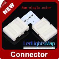 8mm 2 Pins L Shap Led Connector  for Single Color Strip Wholesale