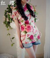 Cheongsam Tops for Women Chinese Blouse National Women's Trend Fluid Tang Suit Cheongsam Top Vintage Linen Short-sleeve 2015