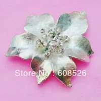 free shipping 1 piece high quality beautiful flower crystal rhinestone jewelry alloy brooch, item no.:BRH4678
