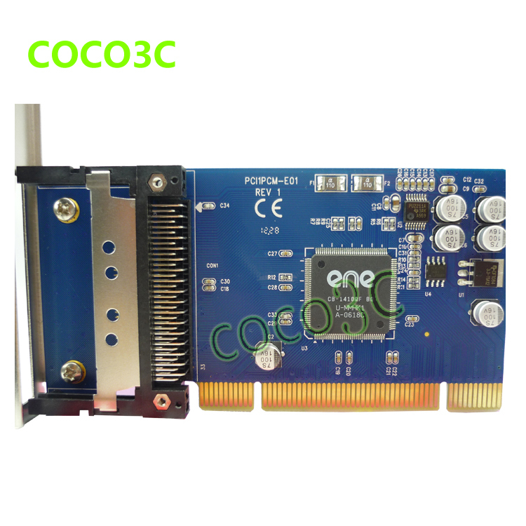 Free Shipping PCI to PCMCIA cardbus adapter card,PCI to PCMCIA 16-bit (PCMCIA 2.1/JEIDA 4.2) and 32-bit (Card Bus) PC card(China (Mainland))