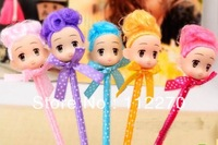 24pcs Free shipping cute clown girl pen, novelty stationery Ballpoint pen,good for children study