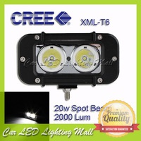 2pcs*10w 20W CREE LED Off road Work Light Lamp 12V 24V ATV BOAT,IP67 2000lm worklight led SPOT BEAM FREE SHIPPING